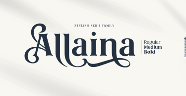 Allaina [6 Fonts] | The Fonts Master