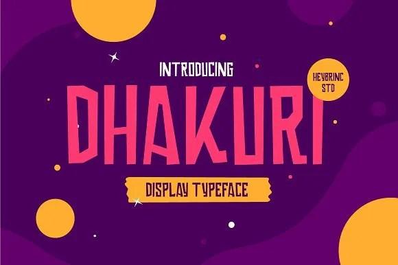 Dhakouri [1 Font] | The Fonts Master