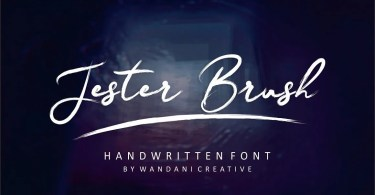 Jester Brush [2 Fonts] | The Fonts Master