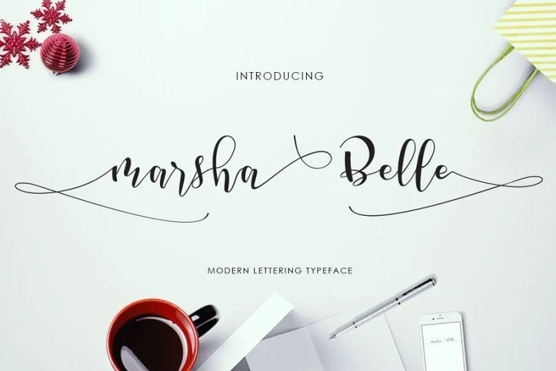 Marsha Belle [1 Font]   The Fonts Master