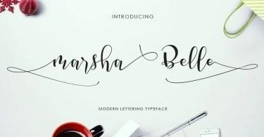 Marsha Belle [1 Font] | The Fonts Master