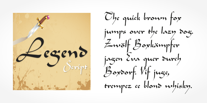 Legend Script [1 Font] | The Fonts Master