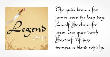 Legend Script [1 Font] | The Fonts Master