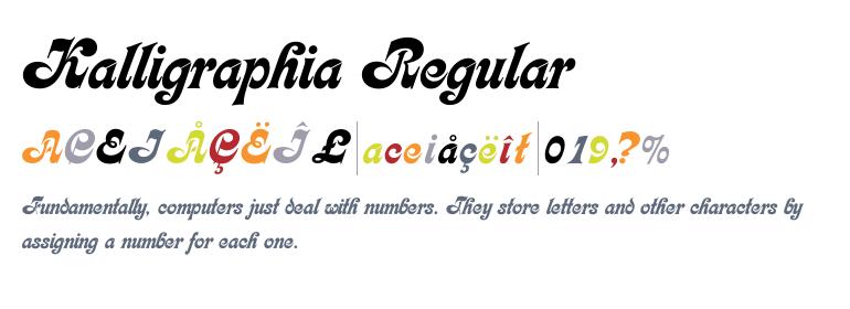 Kalligraphia [1 Font] | The Fonts Master