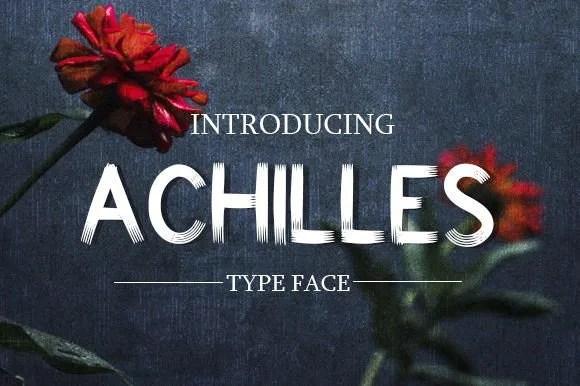 Achilles [1 Font] | The Fonts Master