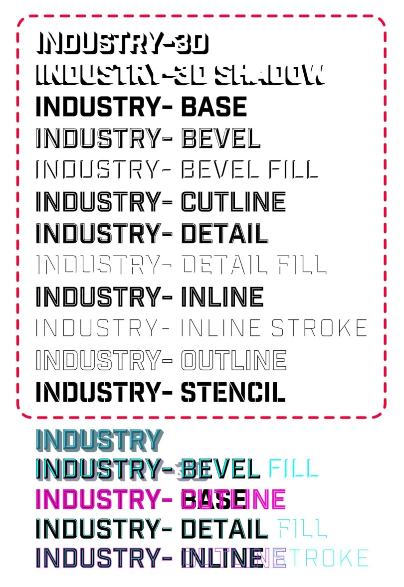 Industry Inc [12 Fonts]   The Fonts Master
