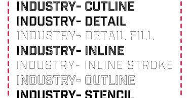 Industry Inc [12 Fonts] | The Fonts Master