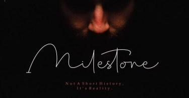 Milestone Signature [1 Font] | The Fonts Master