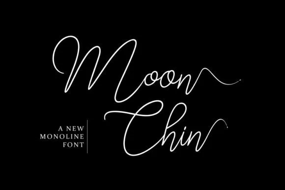 Moon Chin [1 Font] | The Fonts Master