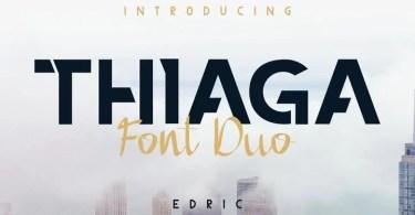 Thiaga [3 Fonts]   The Fonts Master