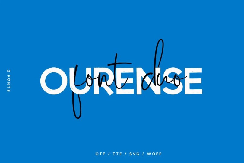 Ourense Font Duo [2 Fonts] | The Fonts Master