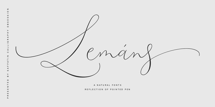 Lemans Pen Script [1 Font] | The Fonts Master