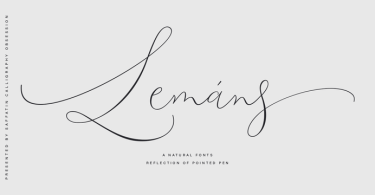 Lemans Pen Script [1 Font] | The Fonts Master