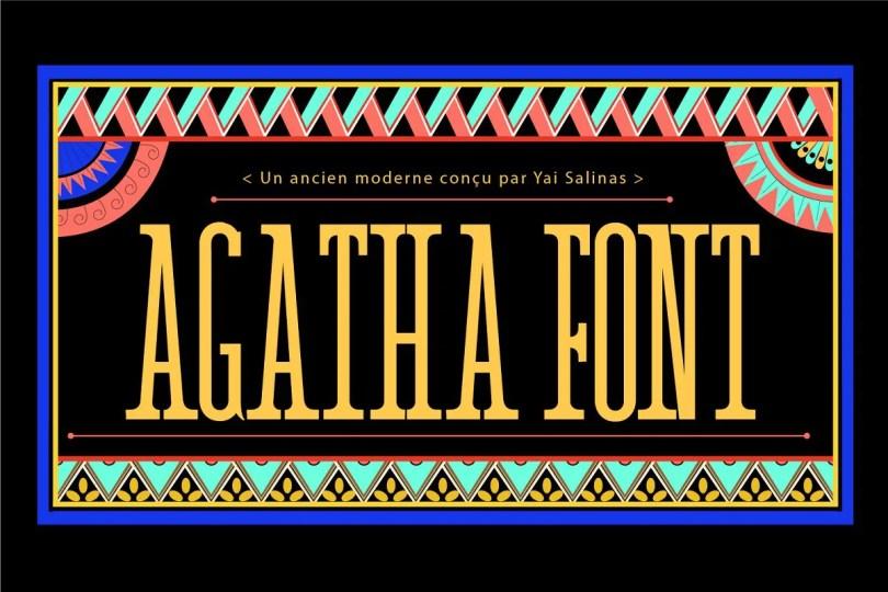 Agatha [1 Font] | The Fonts Master