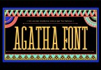Agatha [1 Font]   The Fonts Master