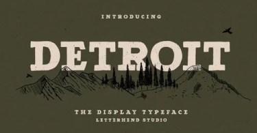 Detroit [1 Font] | The Fonts Master