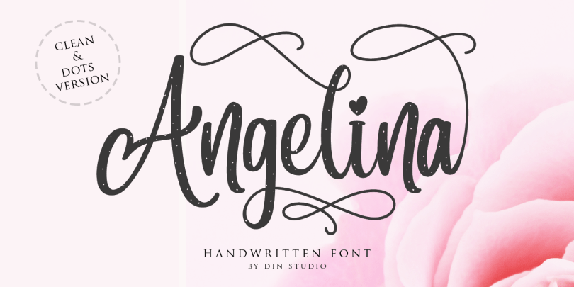 Angelina Script [2 Fonts]   The Fonts Master