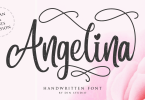 Angelina Script [2 Fonts] | The Fonts Master