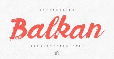 Balkan Script [1 Font]