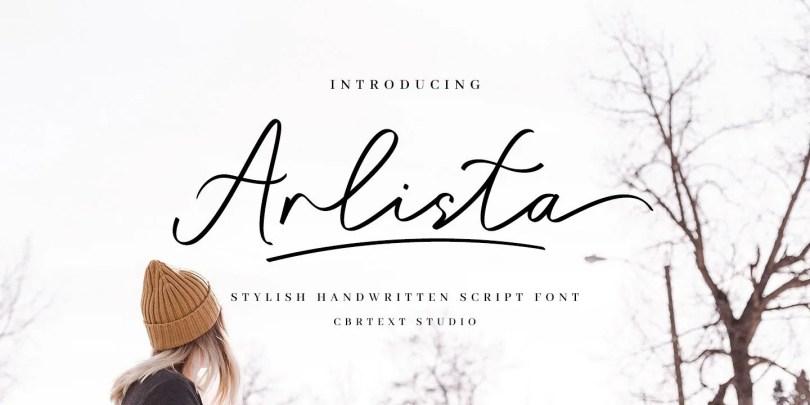 Arlista [1 Font]   The Fonts Master