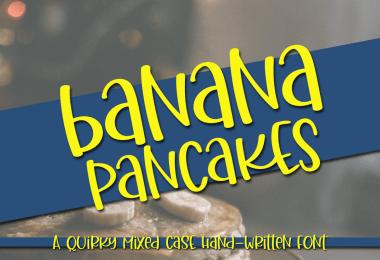 Banana Pancakes [1 Font]