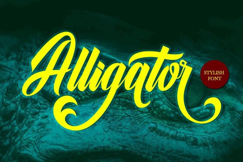 Alligator [1 Font]   The Fonts Master