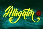 Alligator [1 Font] | The Fonts Master