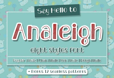Analeigh [8 Fonts + Extras]