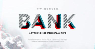 Bank [2 Fonts] | The Fonts Master