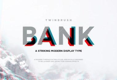 Bank [2 Fonts]