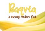 Baqvia [1 Font] | The Fonts Master