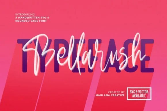 Bellarush [2 Fonts]   The Fonts Master