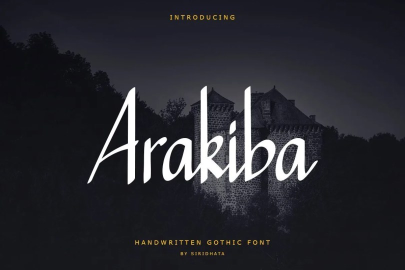 Arakiba [1 Font] | The Fonts Master
