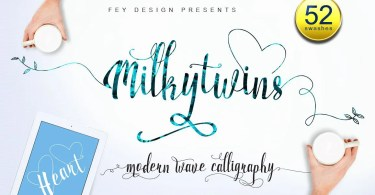 Milkytwins [2 Fonts] | The Fonts Master