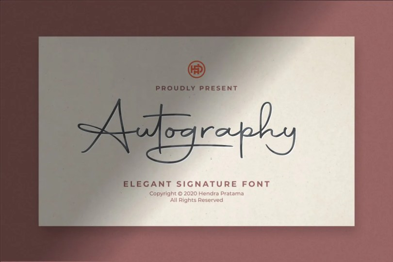 Autography [1 Font]   The Fonts Master
