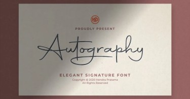 Autography [1 Font] | The Fonts Master