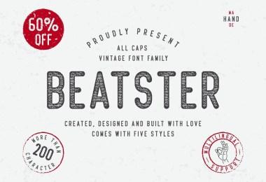 Beatster [5 Fonts]