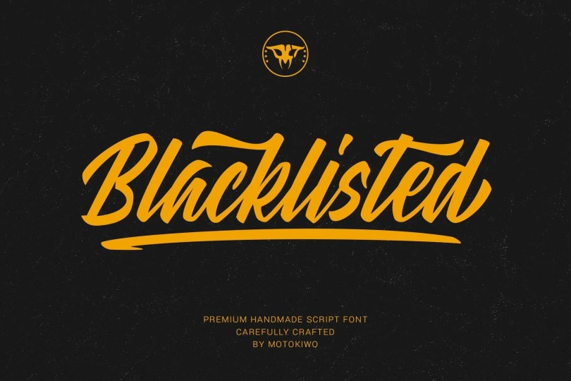 Blacklisted [1 Font]   The Fonts Master