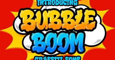 Bubble Boom [1 Font] | The Fonts Master