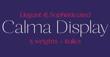 Calma Display Super Family [10 Fonts] | The Fonts Master