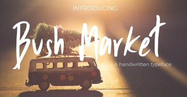 Bush Market [1 Font] | The Fonts Master