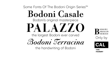 Cal Bodoni Palazzo Super Family [1 Font] | The Fonts Master