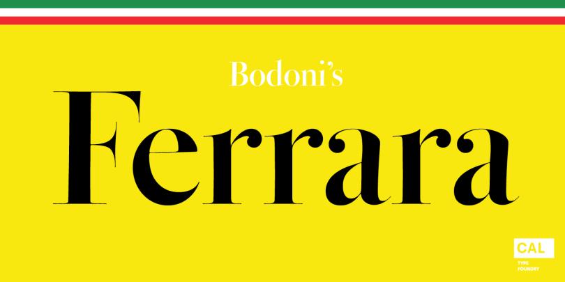 CAL Bodoni Ferrara Origin Super Family [10 Fonts]