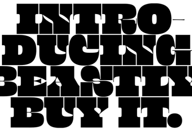 Beastly Super Family [10 Fonts]