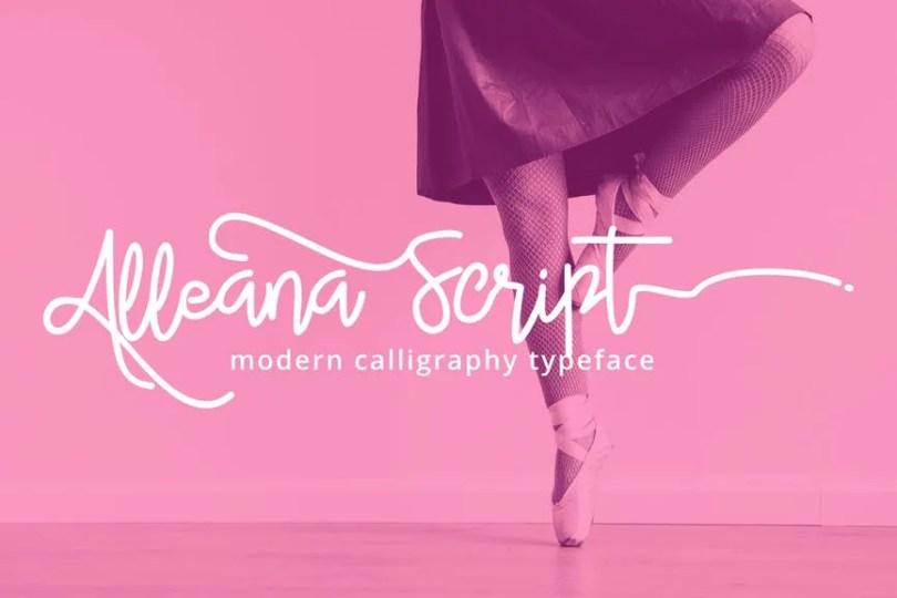 Alleana Script [1 Font] | The Fonts Master