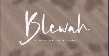 Blewah [1 Font] | The Fonts Master