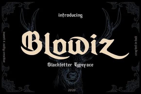 Blowiz [1 Font]   The Fonts Master