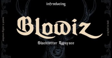 Blowiz [1 Font] | The Fonts Master