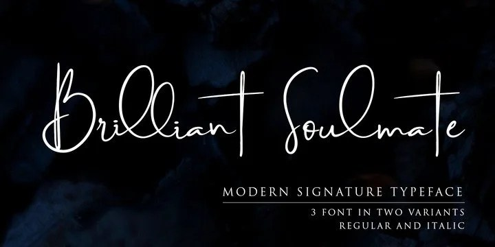 Brilliant Soulmate [6 Fonts] | The Fonts Master