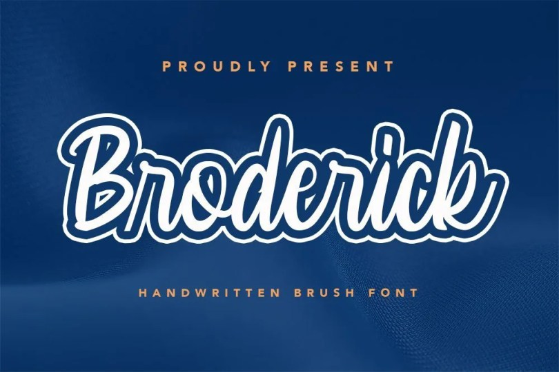 Broderick [1 Font]   The Fonts Master